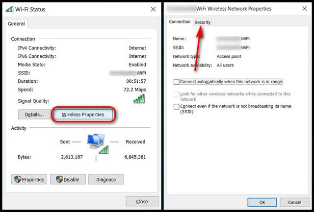 How to see saved WiFi passwords in Windows 10 10