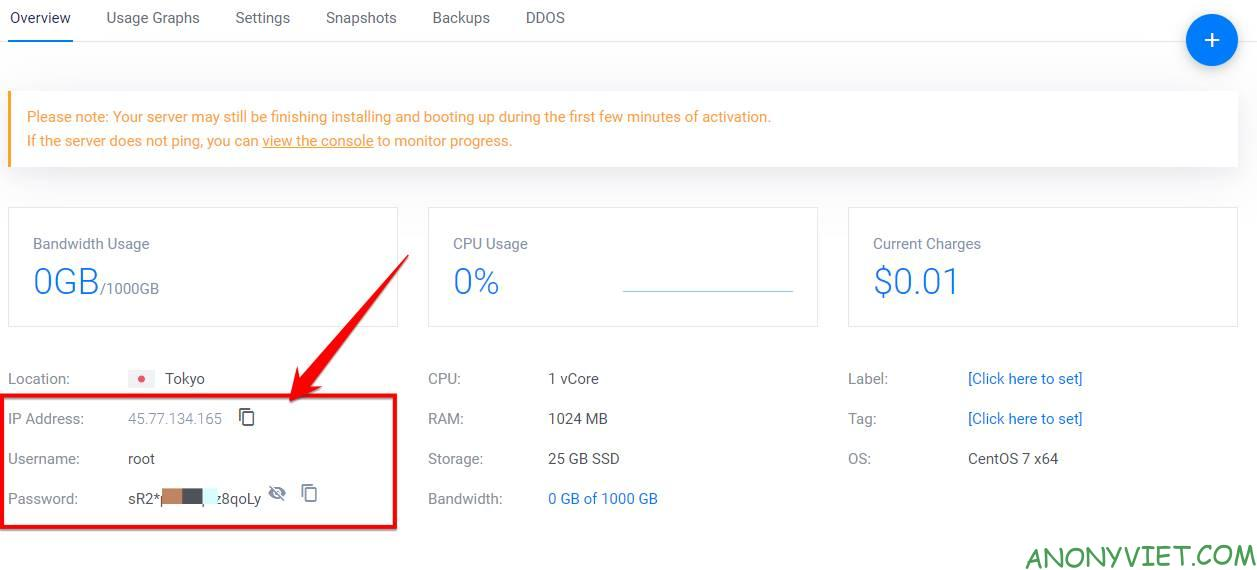 How to use VPS Vultr for beginners - Give away 100$ Credit 9